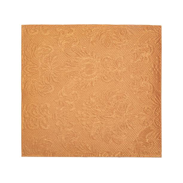 مناديل ورقية مربعة الشكل لون برونزي من الجانس  image number 1