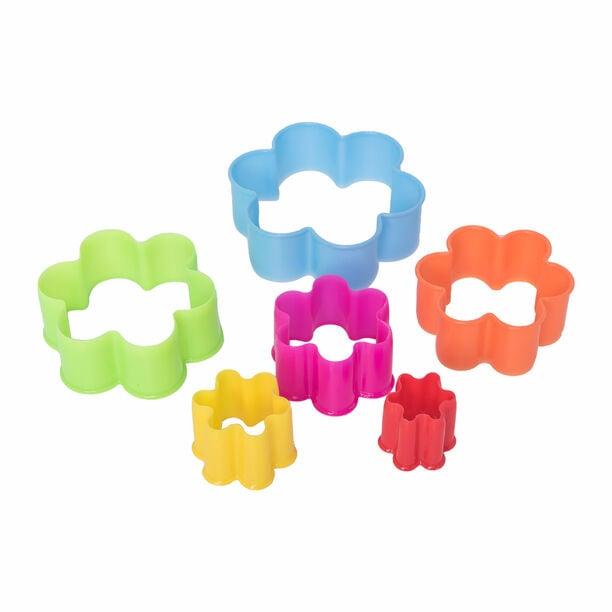 قواطع كوكيز بلاستيكية طقم 5 قطع متعددة الأشكال image number 1