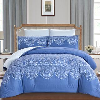 Comforter King Size 6 Pcs Set Classic Navy