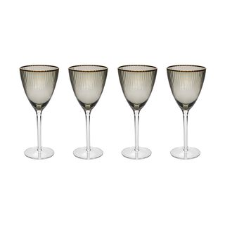 La Mesa 4 Pieces Glass Juices Goblets Black