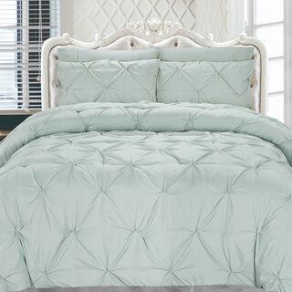 Cottage 3 Pieces Microfiber Comforter Set Emboos Emblisshed Pillow Shams Twin Size 160×220 Cm
