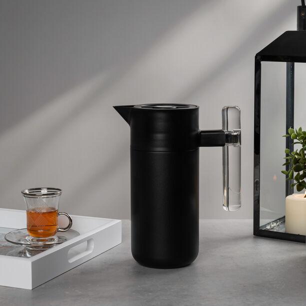 Steel Vacuum Flask 1.2L Arab Graph Black image number 0