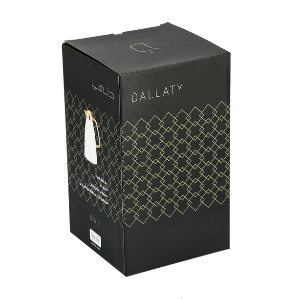 Steel Vacuum Flask Falco Gold And Black 1L image number 4