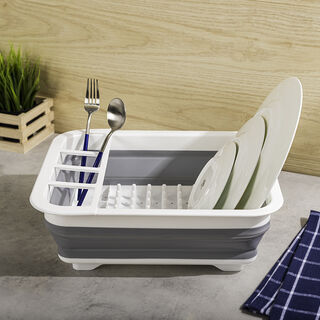 Plastic Collapsible Dish Rack Unfold