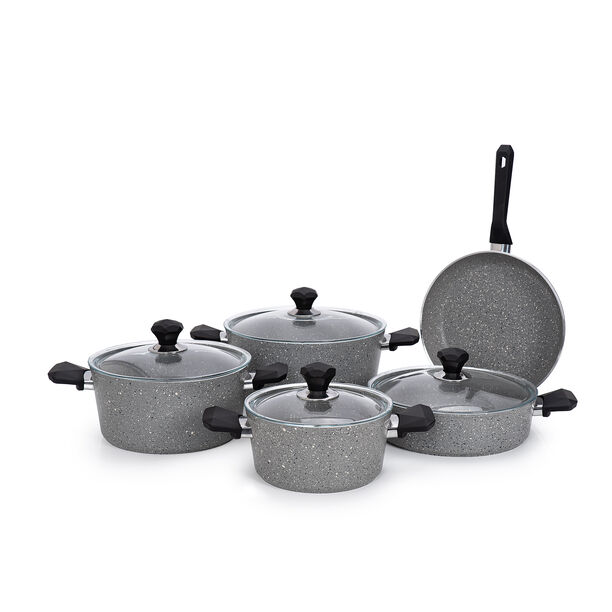 Pentola 9 Pieces Granite Cookware Set Blue image number 1