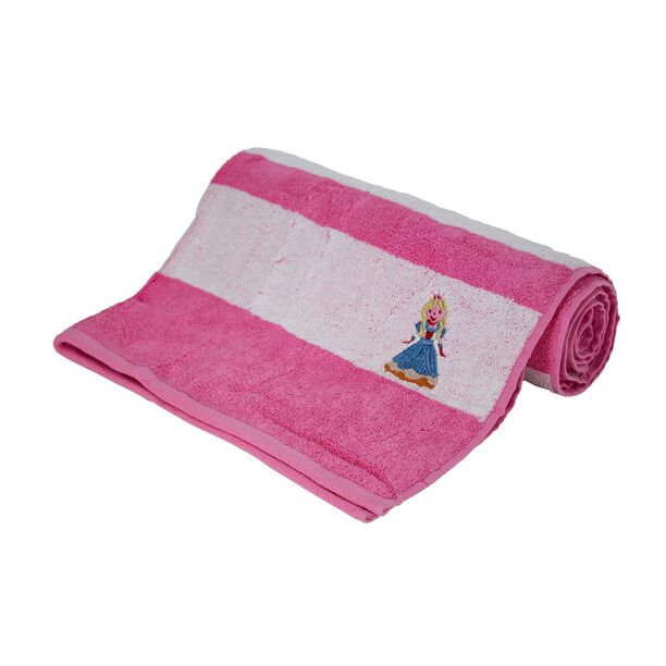 Bath Towel With Stripes Cotton Pink image number 0