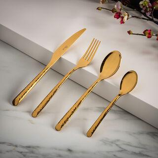 Brenda 16 Pcs Cutlery Set Shiny Gold