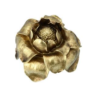 تحفة تصميم زهرة لون ذهبي