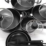 Alberto Non Stick Cookware Set 12 Pieces Black image number 2