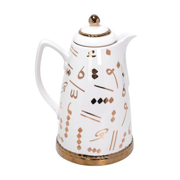 Dallety Porcelain Vacuum Flask Tashkeel White 900Ml image number 0