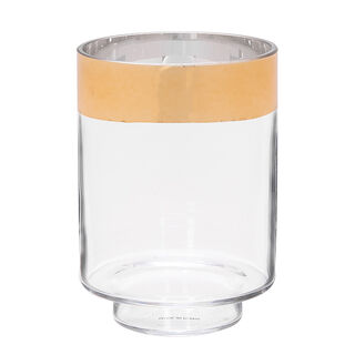 Vase Clear With Gold Rim Small