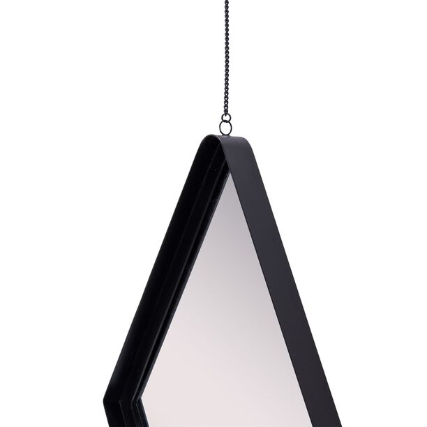 Iron Wall Mirror Special Shape, Black Powder Black  image number 2