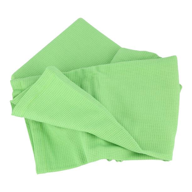 مفرش سرير صيفي من القطن الطبيعي لون أخضر image number 1