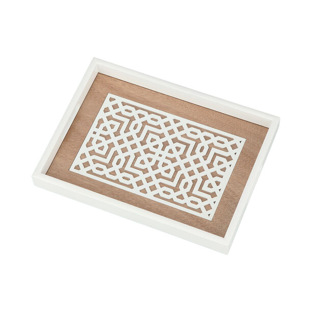 Wood Tray Pp 1Pc White Wood image number 0