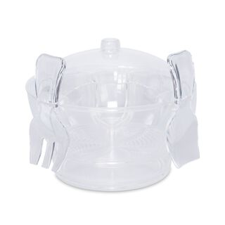 Acrylic Serving Bowl With Vented Ice Chamber