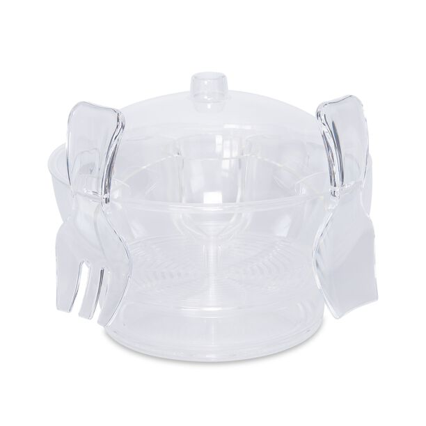 Acrylic Serving Bowl With Vented Ice Chamber image number 0