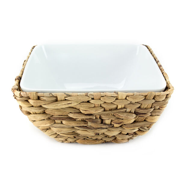La Mesa Oven/Serving Bowl With Rattan Basket image number 1