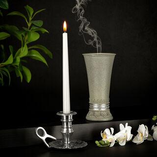 Aluminium Candle Holder Shiny Polish