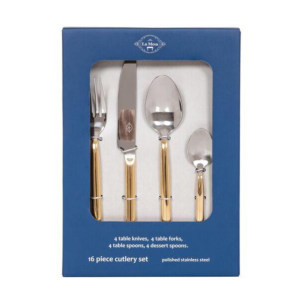 طقم أدوات المائدة من لاميسا   16 قطعة ذهبي image number 1
