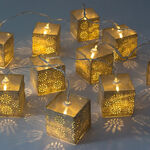 Chain Light String Led Square Shape Set 10 Pieces image number 1