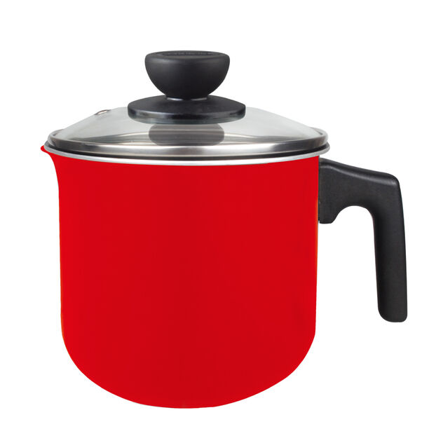 وعاء لغلي الحليب لون أحمر image number 3