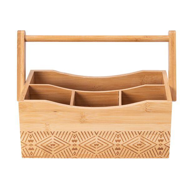 صندوق ملاعق محمول من الخيزران image number 1