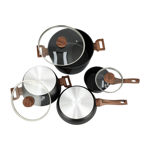 7Pcs Forged Aluminum Cookware Set With Silicone Handles image number 2