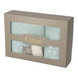 طقم صندوق هدايا  لون ثلجي من كوتاج