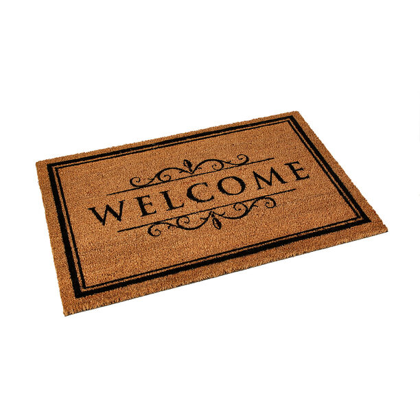 Pvc Backed Coir Mat Natural Painted image number 0
