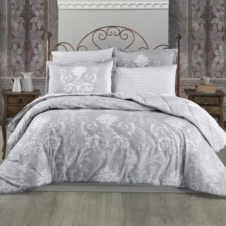 Cottage 3 Pieces Comforter Set Shookka Grey Twin Size