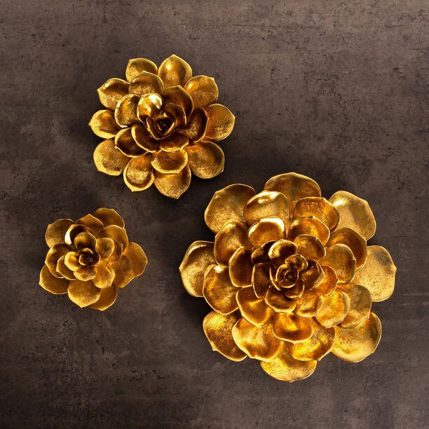 Wall Decoration Flower Gold image number 3