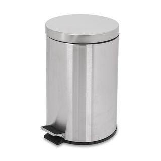 Eko Luna Metal Pedal Bin Silver 12 L