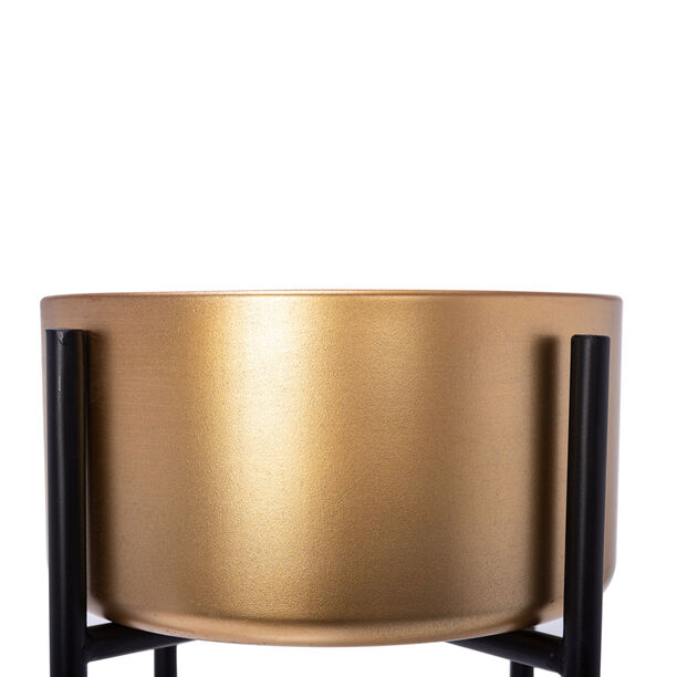 Planter With Stand Metal Gold image number 3