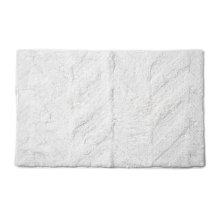 Cottage Cotton Bathmat Angle White