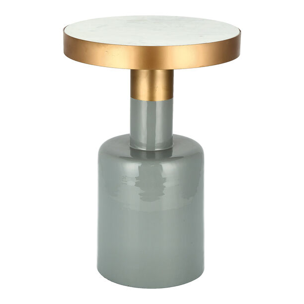 Marble Round Side Table Black Base image number 0
