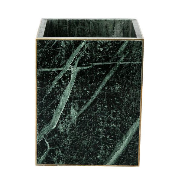 Trash Bin Green Marble Dia image number 1