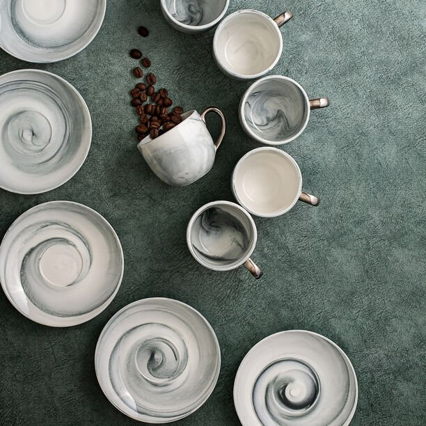 La Mesa Marble With Silver Coffee Set 12 Pieces  image number 3