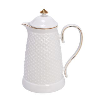 Dallety Porcelain Vacuum Flask White 900 Ml