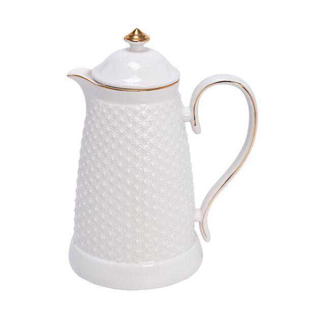 Dallety Porcelain Vacuum Flask White 900 Ml image number 0