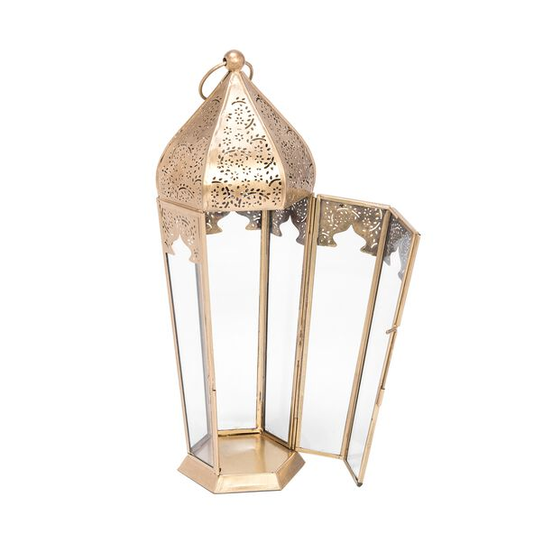 Moroccan Lantern Metal And Glass  image number 1