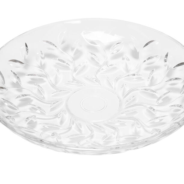 Rcr Laurus Crystal Platter Centerpiece image number 0