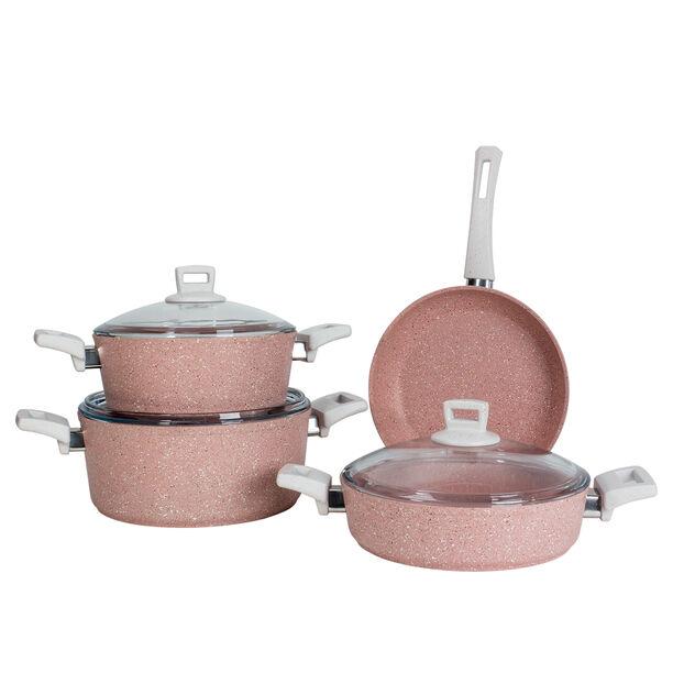 Alberto Granit 7Pcs Cookware Pinky image number 1