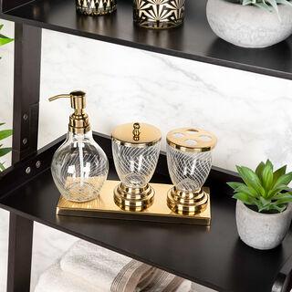 Bath Set Set Of 4 Pcs Gold