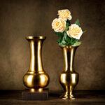 Aluminium Vase Shiny Brass Finish image number 0