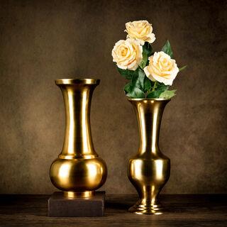 Aluminium Vase Shiny Brass Finish