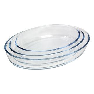 طقم صواني فرن زجاجية من البرتو 3 قطع