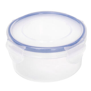 Alberto Plastic Food Saver  Round  Shape V-0.4L Blue Lid