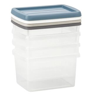 4 Pieces Plastic Mini Box 0.5L