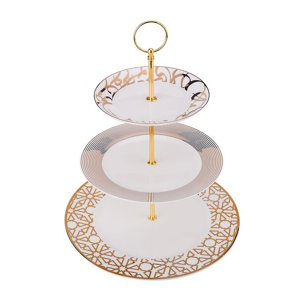 La Mesa 3 Tiers Porcelain Dessert Serving  image number 0