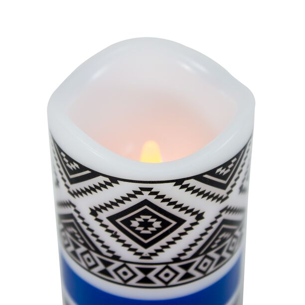 Flameless Candle Led Pillar H:15Xdia:7.5Cm Yellow Flicking Light image number 1